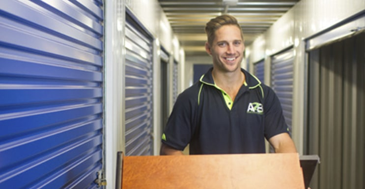 Bruce from A2B storage at our perth storage facility
