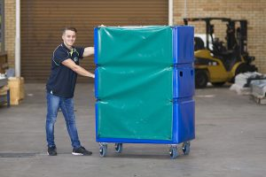staff from a2b removals group on an office removals job in Melbourne CBD